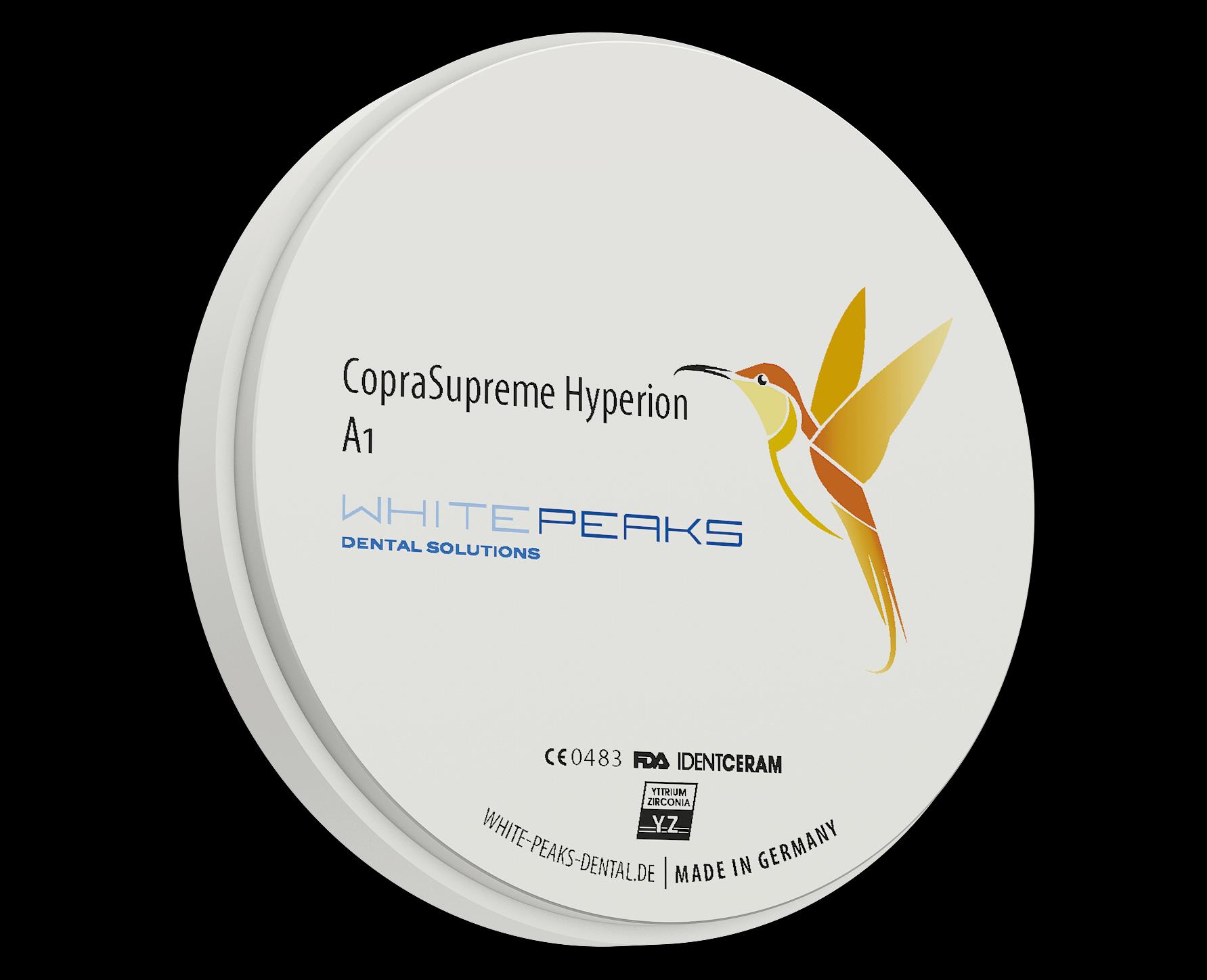 Disco CopraSupreme Hyperion, de 9 capas, circonio altamente translúcido